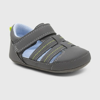 Ro+Me by Robeez Baby Boys' Fisherman Sandals - Gray