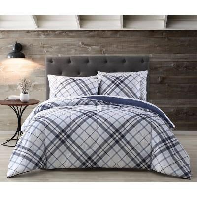 Khalvin Plaid Comforter Set - Geneva Home Fashion