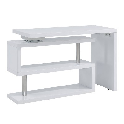 Yaminah Multifunctional Corner/L Desk White - Aiden Lane