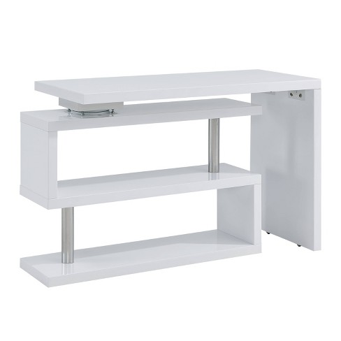 Yaminah Multifunctional Corner/L Desk White - Aiden Lane - image 1 of 4