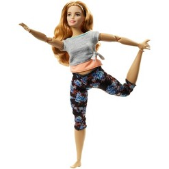 Barbie Made To Move Doll - Floral Peach