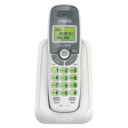 VTech CS6114 DECT 6.0 Cordless Phone with Caller ID/Call Waiting, 1 Handset - White - image 1 of 1