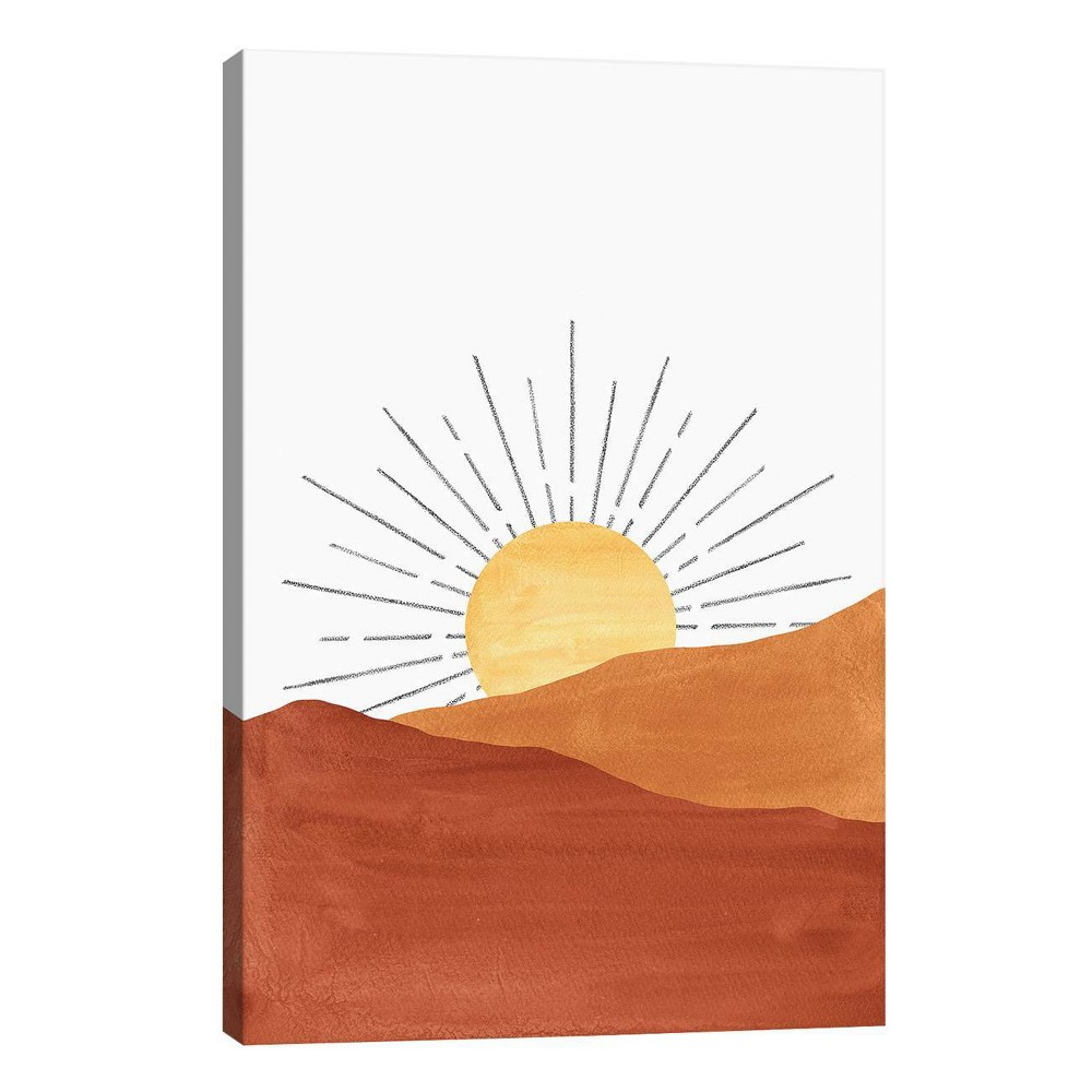 26 34 X 18 34 Abstract Sunset In The Desert By Whales Way Unframed Wall Canvas Print Icanvas