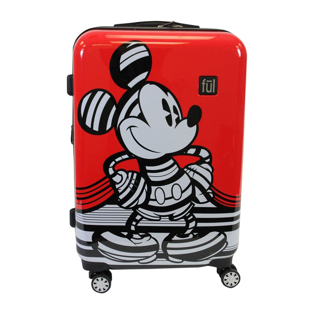 Ful 29 Disney Mickey Mouse Hardside Suitcase - Red