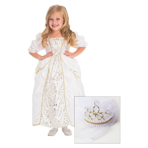 Little Adventures Bride Dress with Veil - image 1 of 1