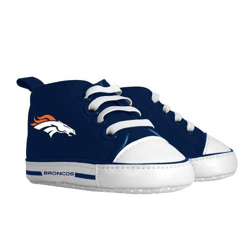 NFL Denver Broncos Baby High Top Sneakers - 0-6M - image 1 of 1