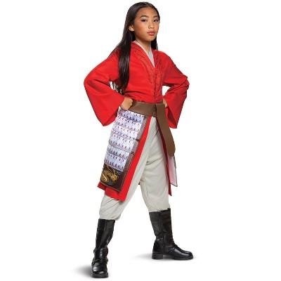 Mulan Mulan Hero Red Dress Deluxe Child Costume