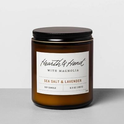 6.5oz Amber Jar Candle Sea Salt & Lavender - Hearth & Hand™ with Magnolia