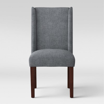 Lowell Modified Wingback Dining Chair Charcoal - Threshold™