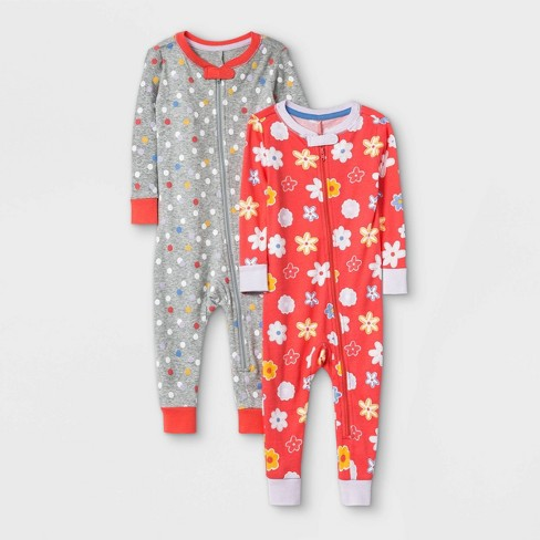 Toddler Girls' 2pk Rise and Shine 100% Cotton Snug Fit Pajama Jumpsuit - Cat & Jack™ Purple - image 1 of 1