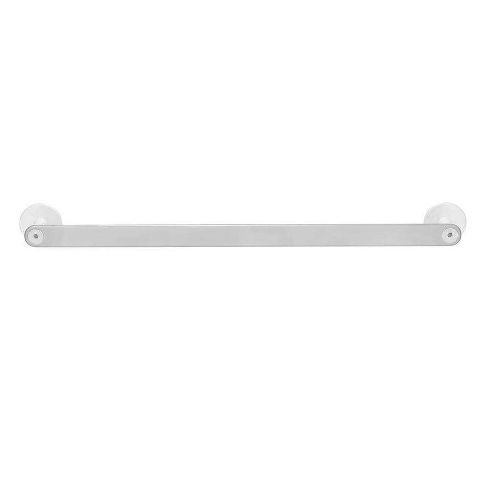 Image of Rail Bead-Blasted Aluminum Towel White - Sabi, White Gray
