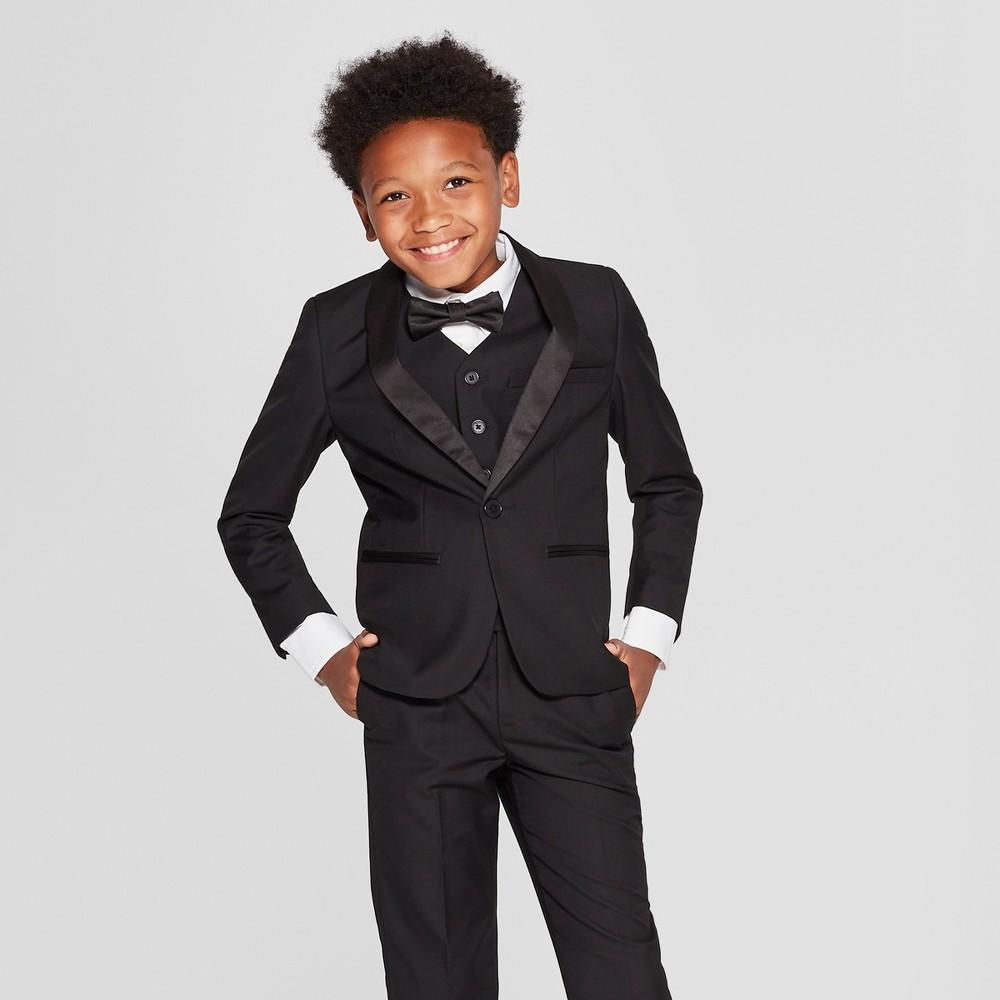 Image of Boys' Tuxedo Blazer - WD.NY Black - Black 10, Boy's