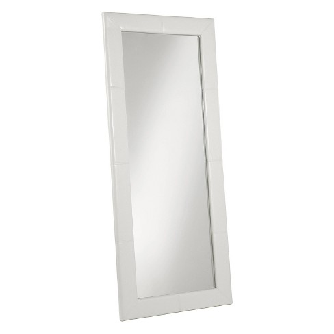 "70"" Desmond Rectangle Leather Floor Mirror Ivory - Abbyson Living - image 1 of 4"