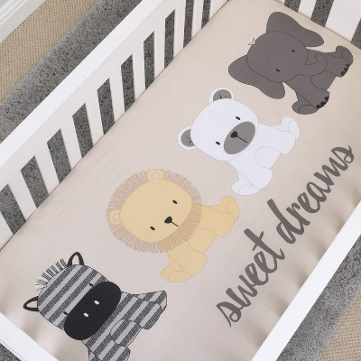 NoJo Play Day Pals Cotton Fitted Crib Sheet
