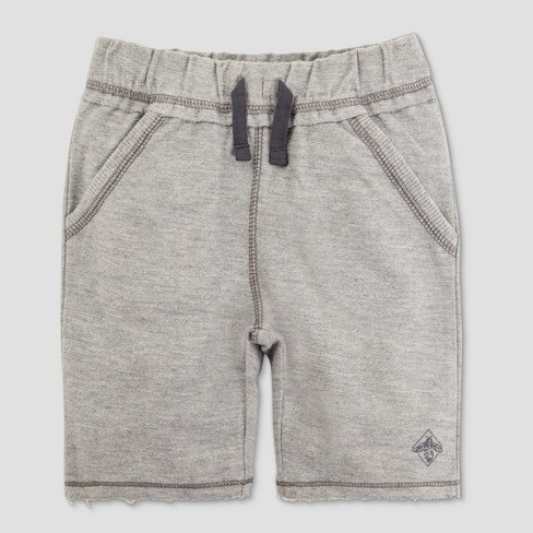 Burt's Bees Baby Toddler Boys' Organic Cotton Reverse French Terry Shorts - Heather Grey - image 1 of 2
