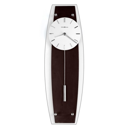 Howard Miller Cyrus Wall Clock 625-401 – Glass Front with Hanging Pendulum & Quartz Movement