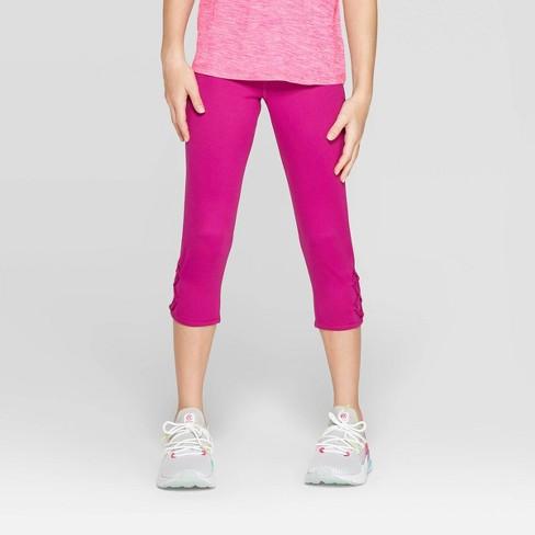 Girls' Lattice Capri Leggings - C9 Champion® - image 1 of 3