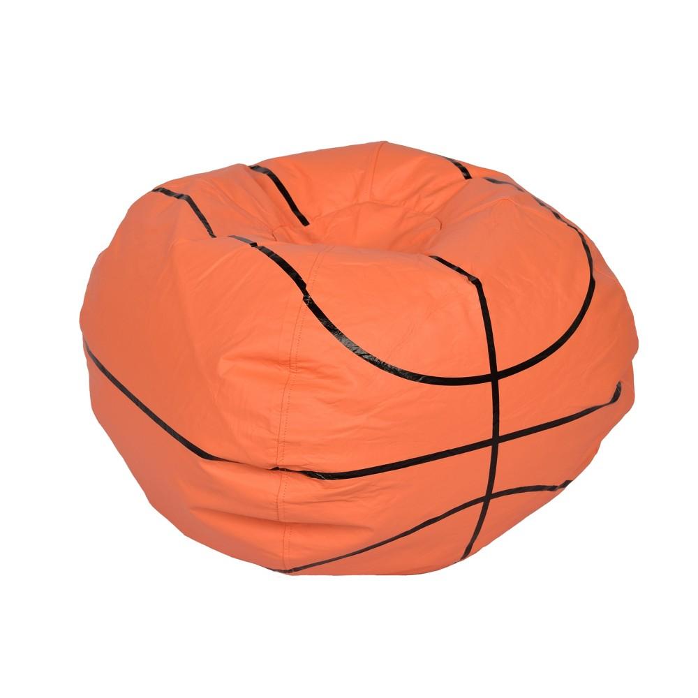 Image of Basketball Bean Bag Chair Matte Orange - Ace Bayou