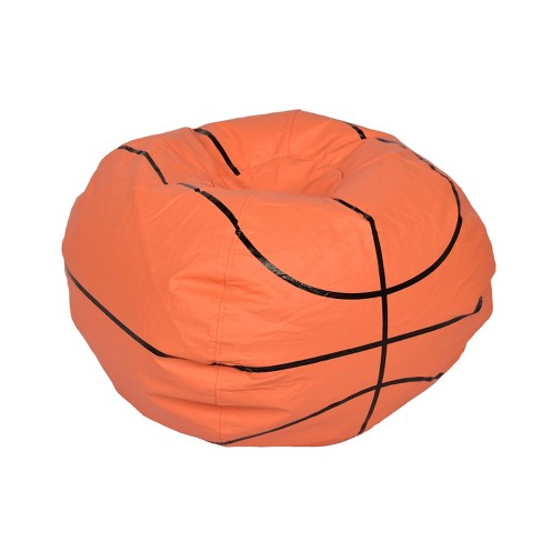 Basketball Bean Bag Chair Matte Orange Ace Bayou