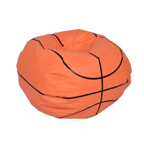 Astonishing Basketball Bean Bag Chair Matte Orange Ace Bayou Creativecarmelina Interior Chair Design Creativecarmelinacom