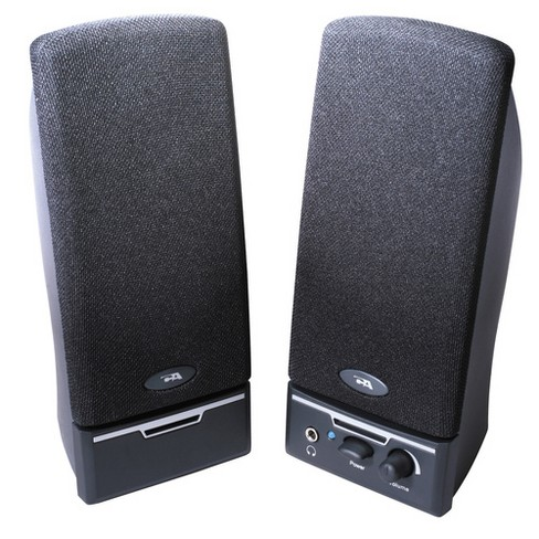 Cyber Acoustics CA-2012WW 2.0 Speaker System - 4 W RMS - Black- 85 Hz - 18 kHz - image 1 of 1