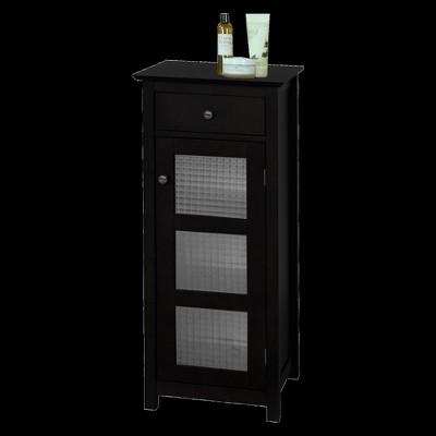 Chesterfield 1 Door Floor Cabinet with Drawer Dark Espresso - Elegant Home Fashions