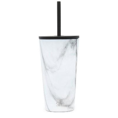 Simple Modern 16oz Classic Tumbler w/ Straw - Carrara Marble