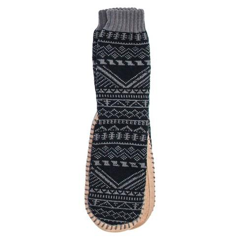 09e4e611f20b Men s MUK LUKS® Fair Isle Print Slipper Socks - Charcoal S M(8-10 ...