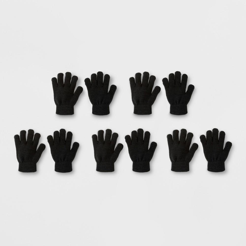 Toddler Boys' 5pk Magic Gloves - Cat & Jack Black One Size