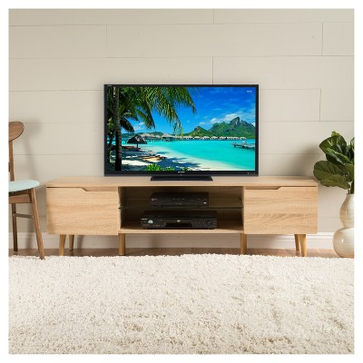 """Rowan 59"""" Finished Wood TV Stand - Oak - Christopher Knight Home : Target"""