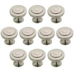"""Franklin Brass 10pk 1-1/4"""" Geary Knob Nickel"""