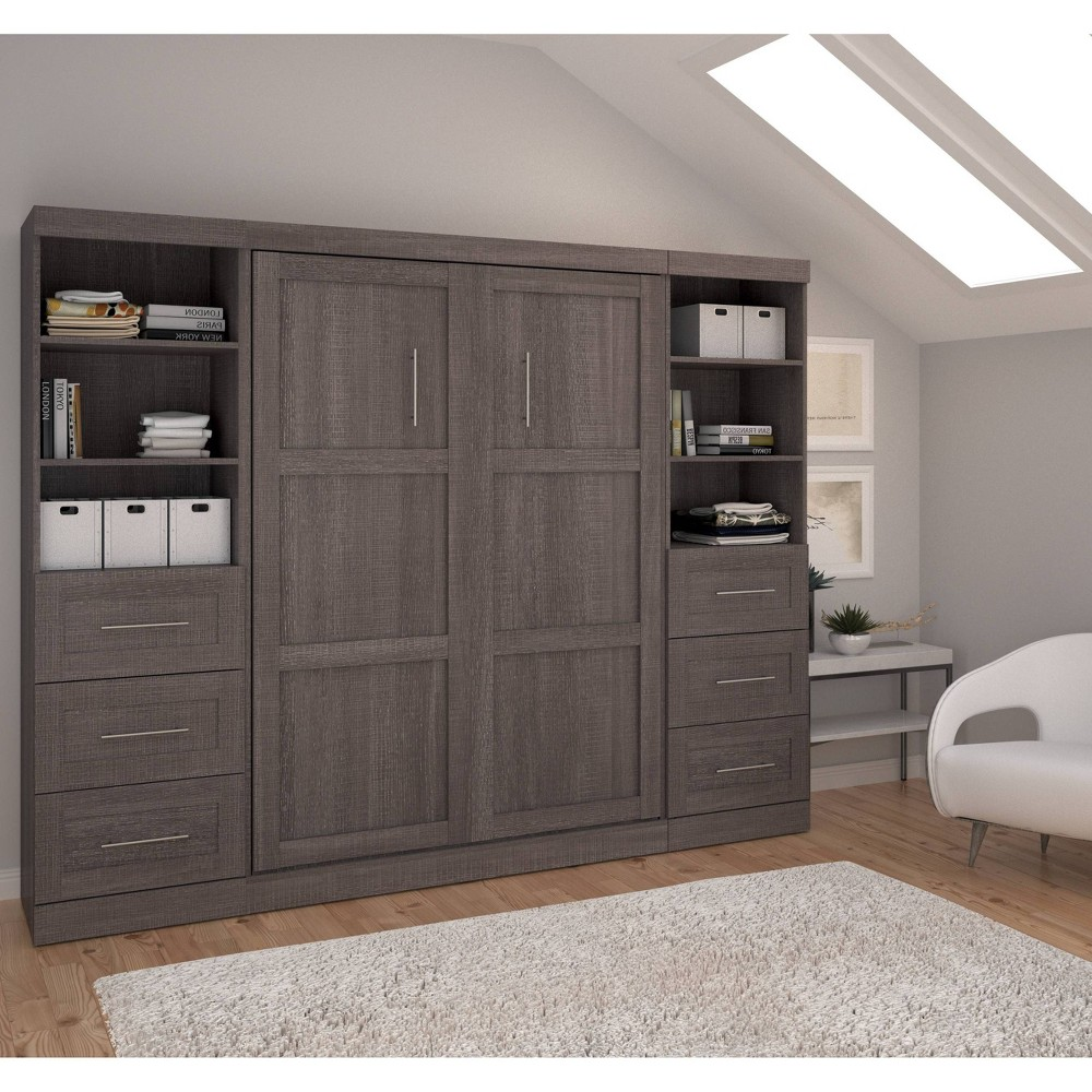 """Image of """"109"""""""" Full Wall Bed Kit Bark Gray - Bestar"""""""