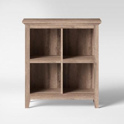 """37.2"""" Carson 4 Bin Organizer Bookcase Rustic - Threshold™"""