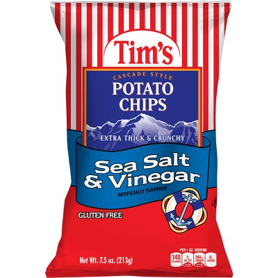 Tim's Sea Salt & Vinegar Extra Thick & Crunchy Potato Chips - 7.5oz