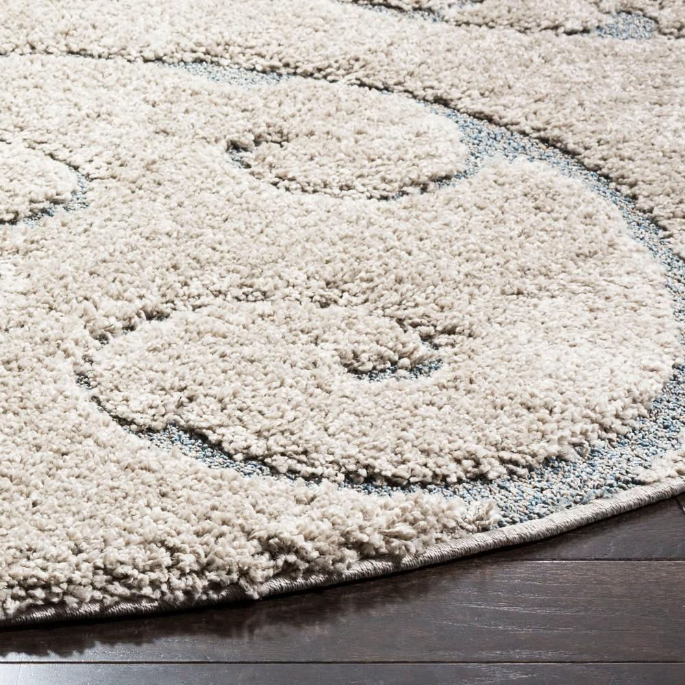 6'7 Swirl Loomed Round Area Rug Cream (Ivory) - Safavieh