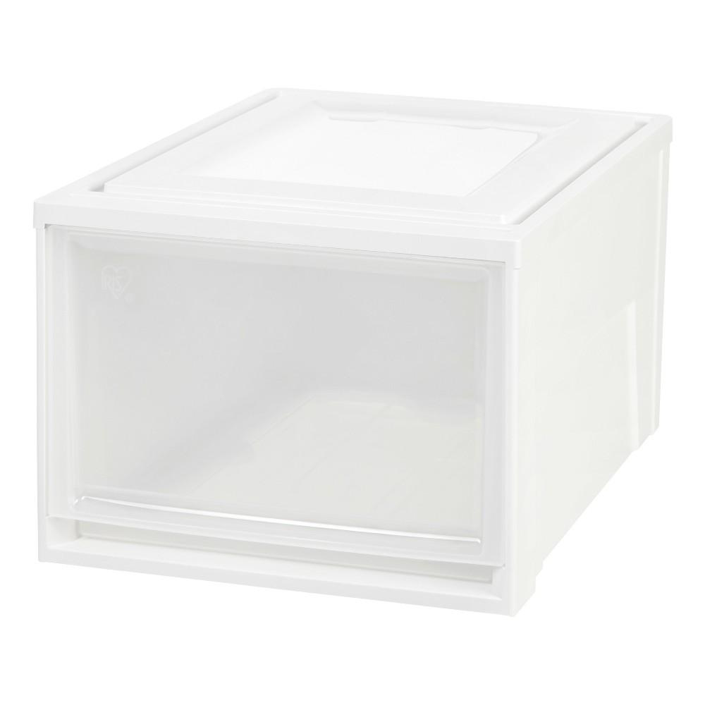 Iris Deep Stacking Plastic Storage Drawer - 3pk, White