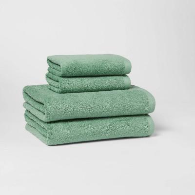 4pc Bath Towel/Hand Towel Set Green - Room Essentials™