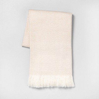"55""x70"" Throw Blanket Cream - Hearth & Hand™ with Magnolia"