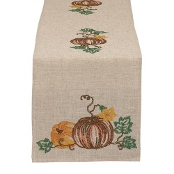 "14"" x 60"" Embroidered Table Runner Pumpkins - Design Imports"