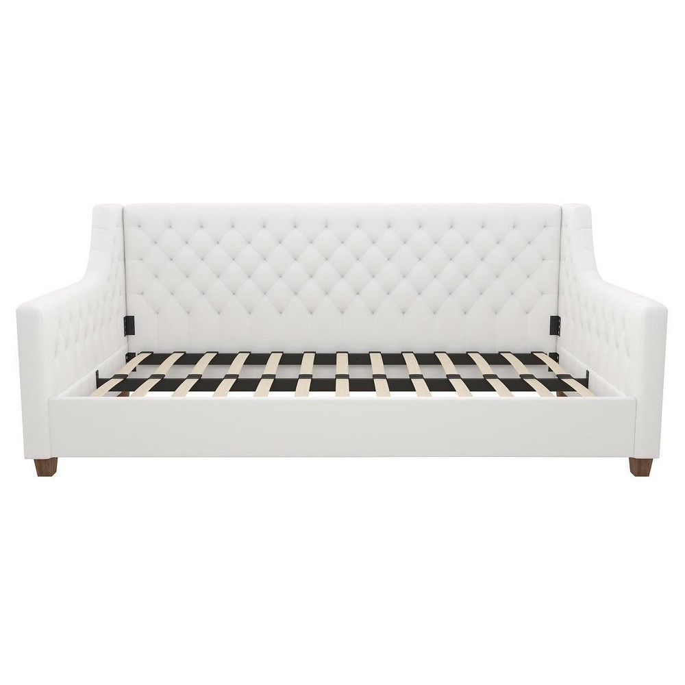 Jordyn Upholstered Daybed White Faux Leather Twin - Dorel Home Products
