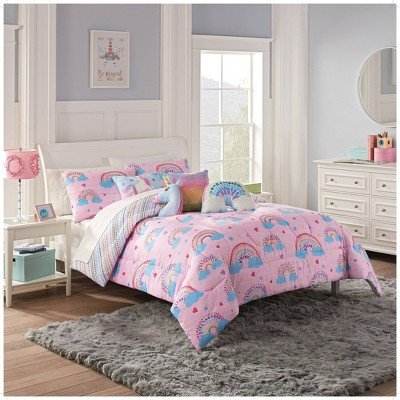 Over the Rainbow Comforter Set Pink - Spree By Waverly