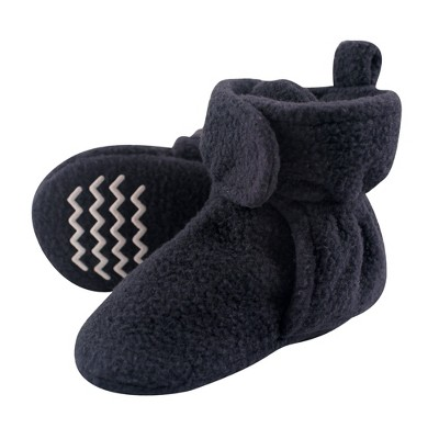 Hudson Baby Infant and Toddler Boy Cozy Fleece Booties, Navy