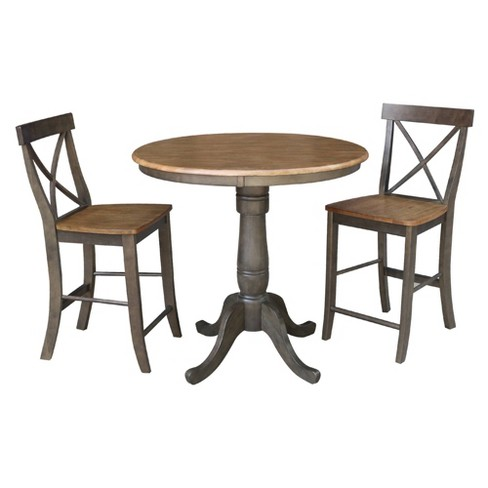 36 Jenin Round Pedestal Gathering, Round Gathering Table