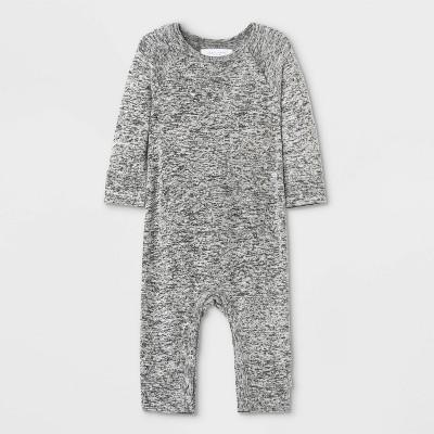 Grayson Mini Baby Hacci Romper - Gray