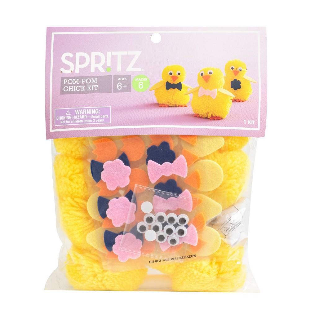 Large Pom Pom Chick Kit - Spritz, Multi-Colored