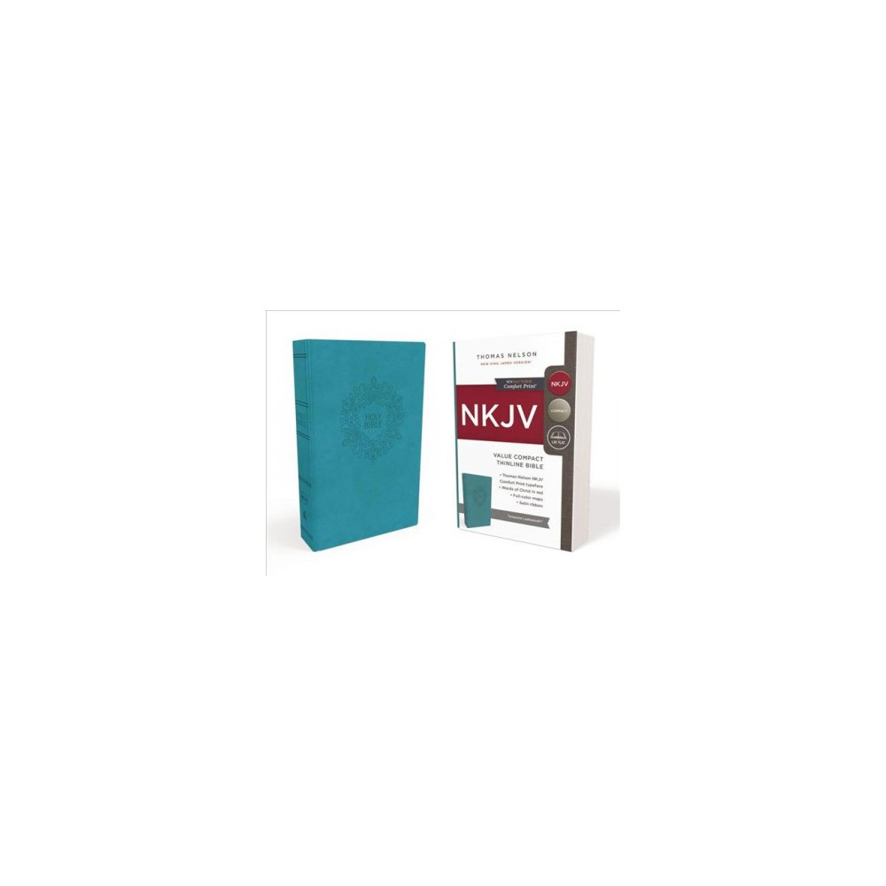 Holy Bible : New King James Version, Turquoise, Leathersoft, Red Letter Edition, Value Thinline