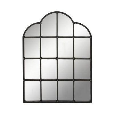 Traditional Iron Decorative Wall Mirror Black - Olivia & May