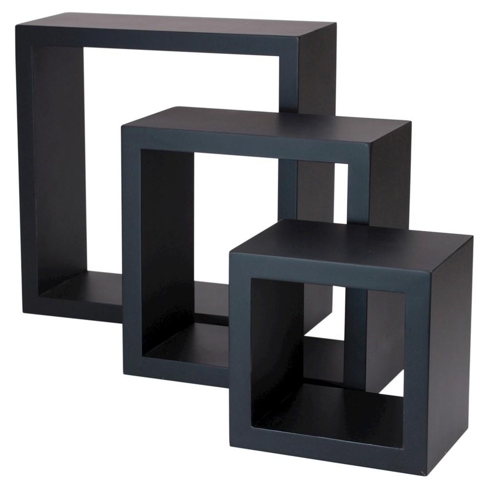 Image of Set of 3 Cubbi Shelves - Black