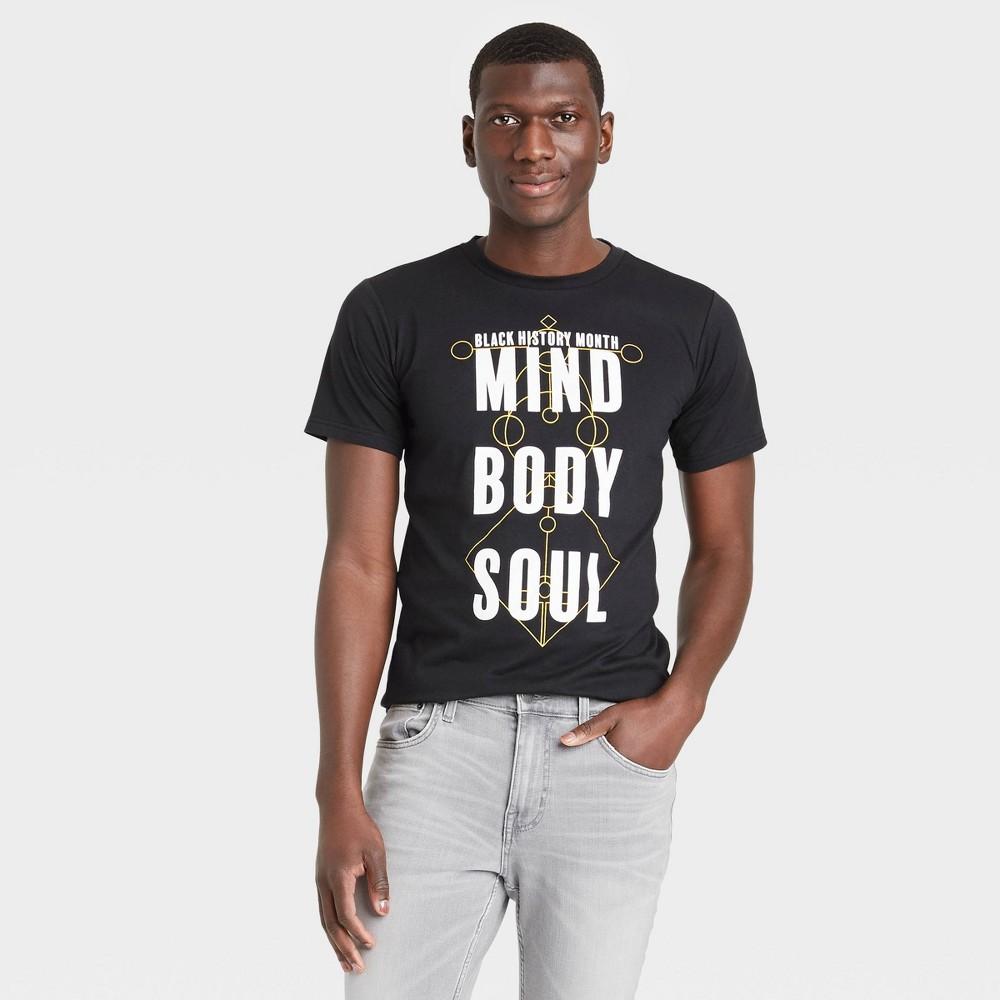 Black History Month Men 39 S 39 Mind Body Soul 39 Short Sleeve Graphic T Shirt Black L