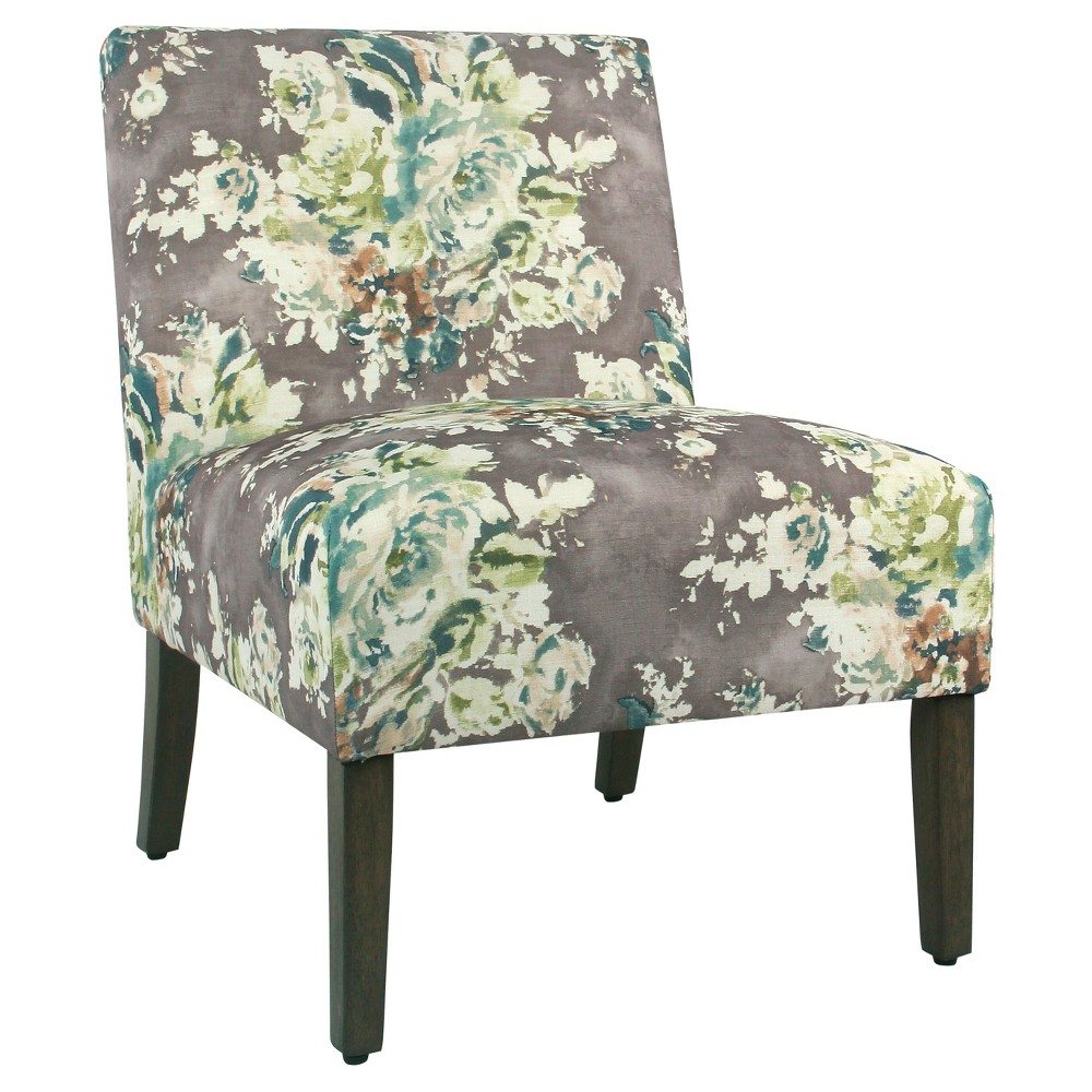 Carson Armless Accent Chair - Gray Floral - HomePop was $259.99 now $194.99 (25.0% off)